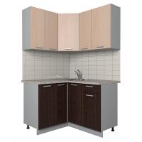 Готовая кухня Лайт 1,2x1,3 (Дуб молочный/ Венге)