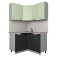 Готовая кухня Лайт 1,2x1,3 (Салатовый/ Антрацит)