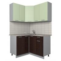 Готовая кухня Лайт 1,2x1,3 (Салатовый/ Венге)