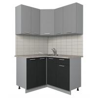 Готовая кухня Лайт 1,2x1,3 (Серебро/ Антрацит)