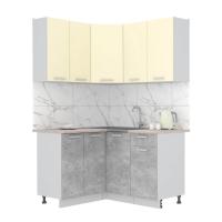 Готовая кухня Лайт 1,2x1,4 (Ваниль/ Бетон)