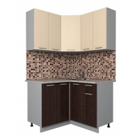 Готовая кухня Лайт 1,2x1,2 (Ваниль/ Венге)
