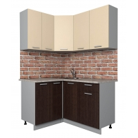 Готовая кухня Лайт 1,2x1,4 (Ваниль/ Венге)