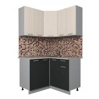 Готовая кухня Лайт 1,2x1,2 (Вудлайн кремовый/ Антрацит)