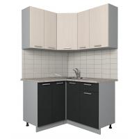 Готовая кухня Лайт 1,2x1,3 (Вудлайн кремовый/ Антрацит)