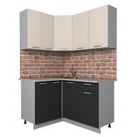 Готовая кухня Лайт 1,2x1,4 (Вудлайн кремовый/ Антрацит)