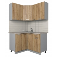 Готовая кухня Лайт 1,2x1,3 (Дуб золотой/ Дуб золотой)