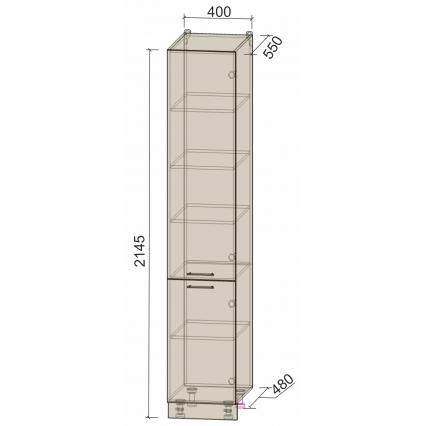 Шкаф пенал нижний 40х215 см