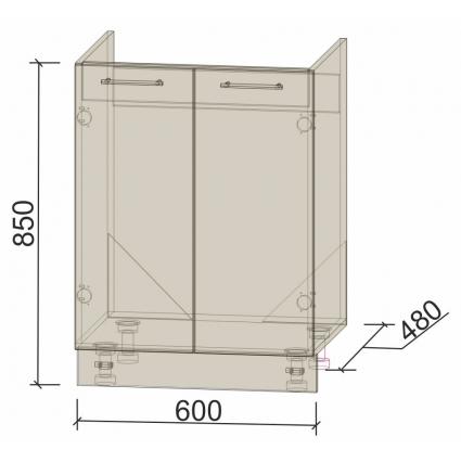 Шкаф нижний 60 см под мойку