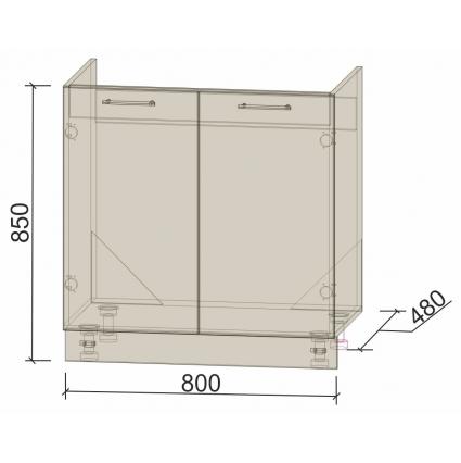 Шкаф нижний 80 см под мойку