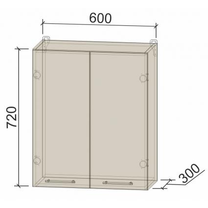 Шкаф верхний под сушку 60 см