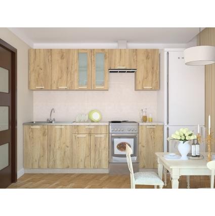 """Готовая кухня """"Мила12x13"""" Салатовый/ Венге"""