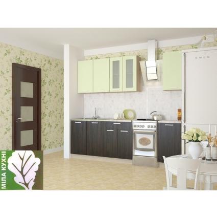 """Готовая кухня """"Мила12"""" Дуб белый/ Дуб серый"""