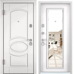 Входная дверь Стартер РР-10 (КТ белый/ КТ белый, зеркало)