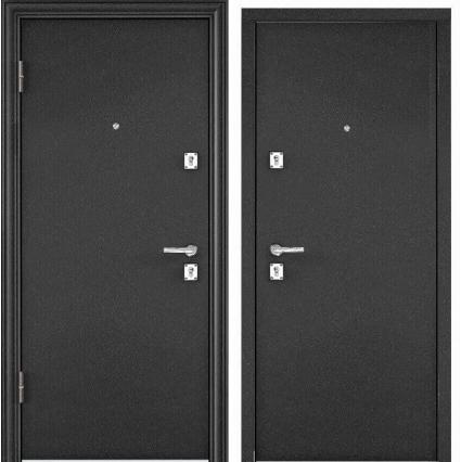 Входная дверь х3 STEELL (Букле Графит/ Букле Графит)