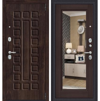 """Дверь металлическая """"Прайм-61/Зеркало"""" Венге"""