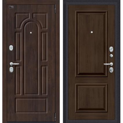 """Дверь металлическая """"Прайм-55.12"""" Дуб темный"""