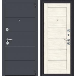 """Дверь металлическая """"Прайм-Л22 Graphite"""" Nordic Oak"""