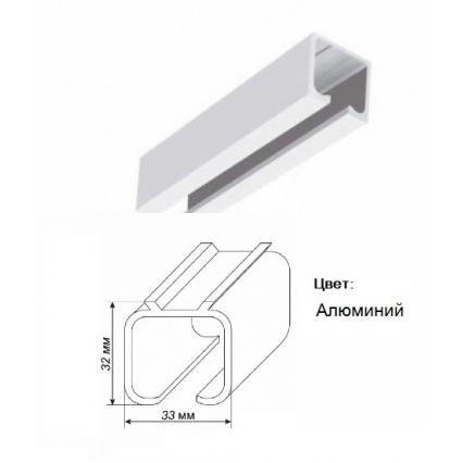 Рельса, верхняя направляющая для двери-купе (книги)