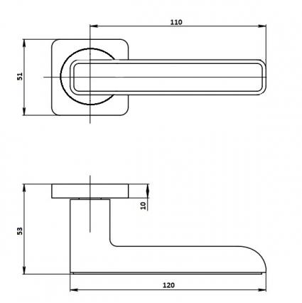 Ручка Остия (V85L-2 AL) Алюминий