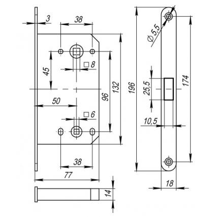 Замок сантехнический магнитный MORELLI М1895 AB Бронза